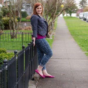 Cabi Grid Curvy Skinny Jeans